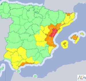 Mapa de España ante una de las peores gotas frías