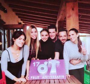 Geno, Natalia, Chenoa, Manu Tenorio, Alejandro Parreño y Nuria Fergó celebran el 17 aniversario de OT