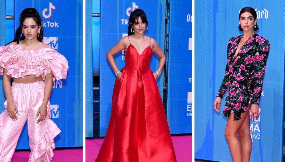 Rosalía, Camila Cabello y Dua Lipa en los MTV EMAs 2018