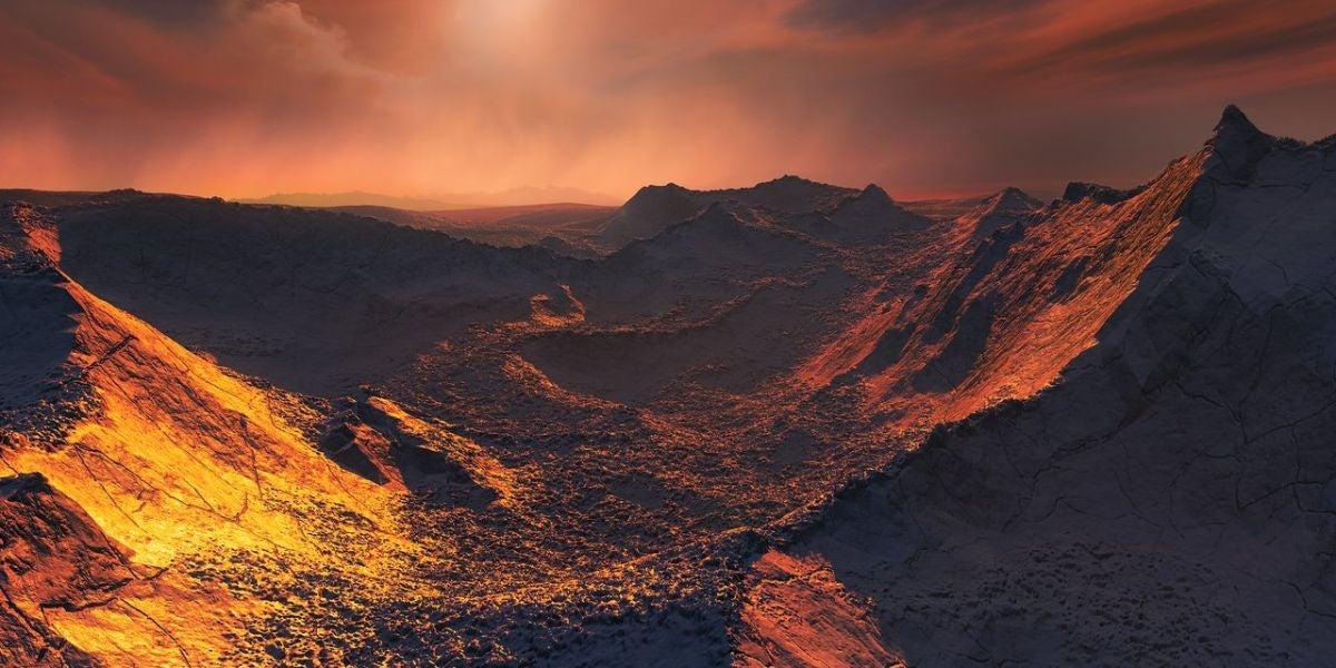 Representación del exoplaneta