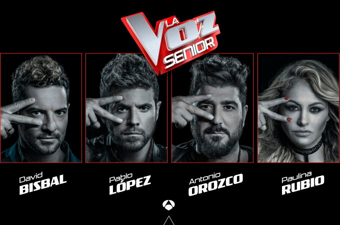 Los coaches de 'La Voz Senior'