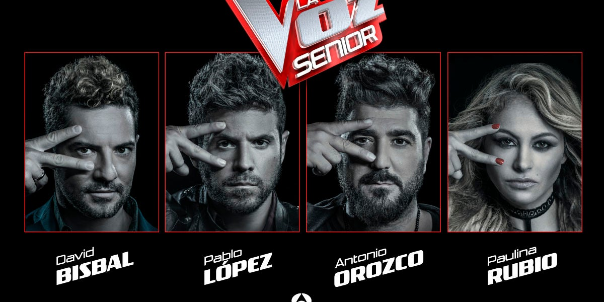 Los coaches de 'La Voz Senior'