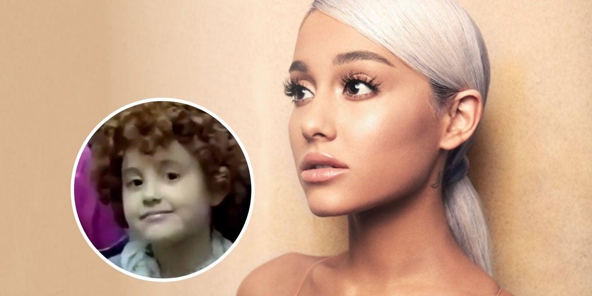 El vídeo de Ariana Grande de pequeña