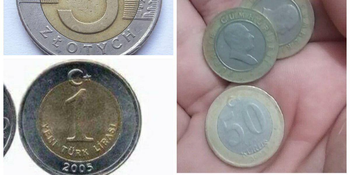 Monedas parecidas a los euros