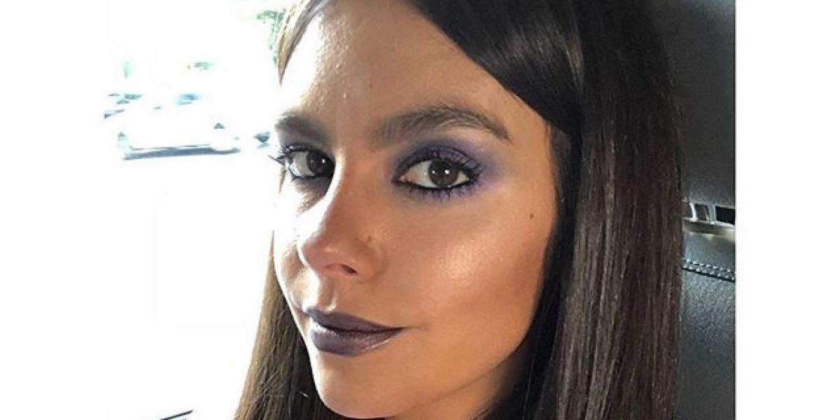 Cristina Pedroche con un maquillaje en tonos violetas