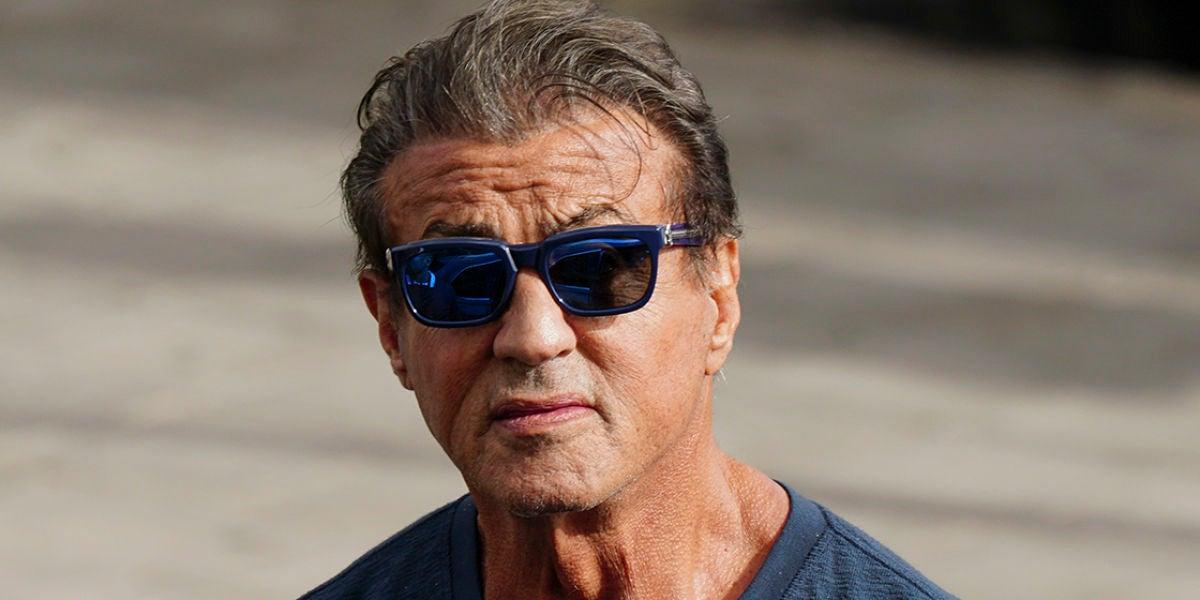 Sylvester Stallone en el rodaje de 'Creed 2'