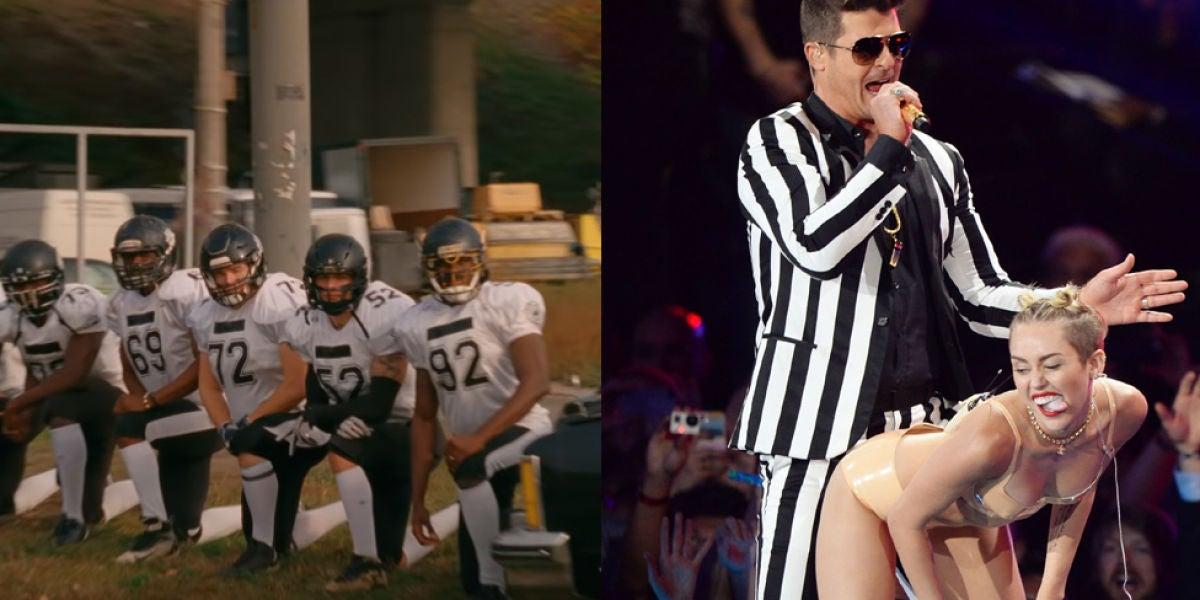 Los jugadores de fútbol americano recuerdan a su actuación en los MTV VMAs 2013