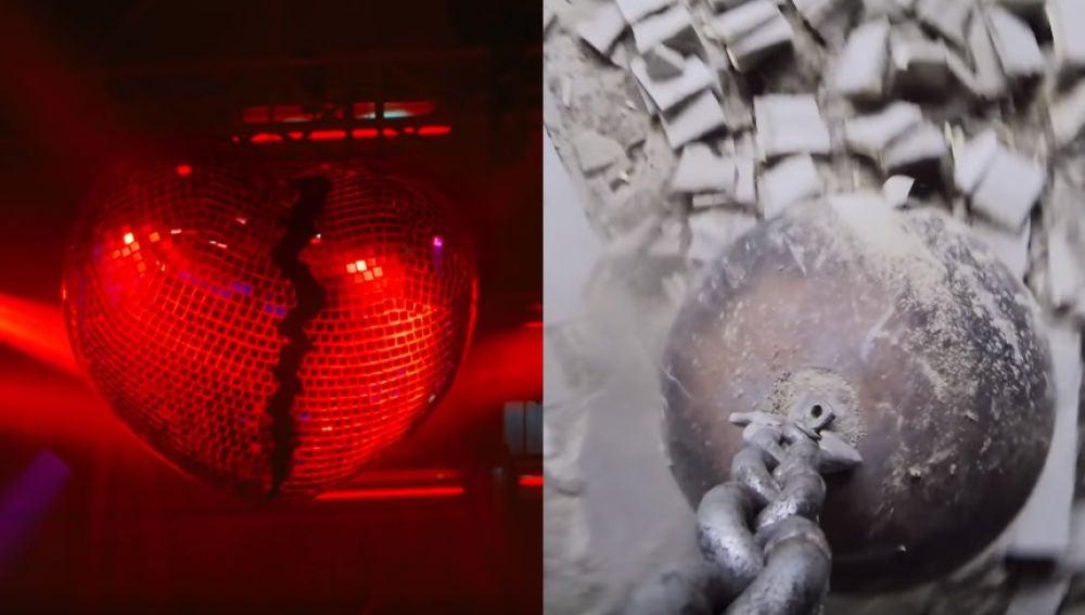 """La bola de luces es una metáfora de la bola de 'Wrecking ball"""""""