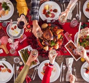 Imagen de archivo de la cena de Navidad