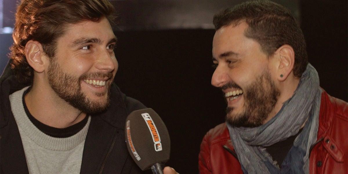 Alvaro Soler y Juanma Romero durante su entrevista para Europa FM