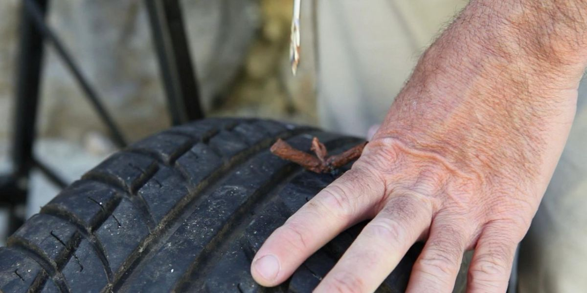 Pinchazo en neumático