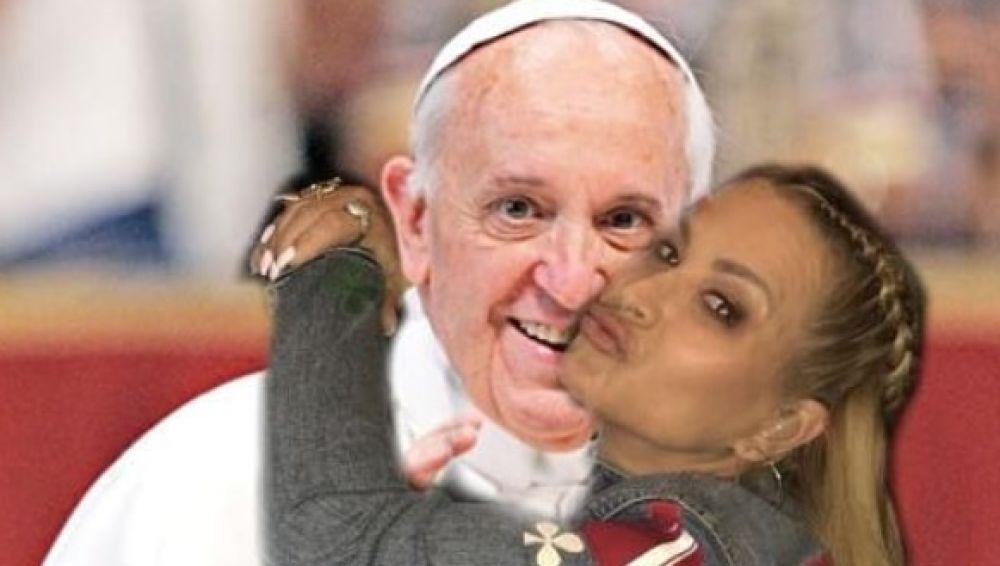 El Papa Francisco y Anastacia en un 'collage' que ella ha publicado en Instagram