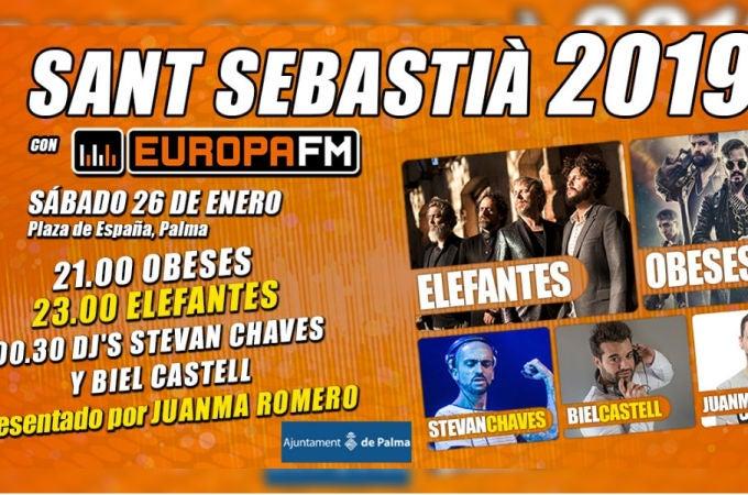 Europa FM en la Revetla de Sant Sebastià 2019