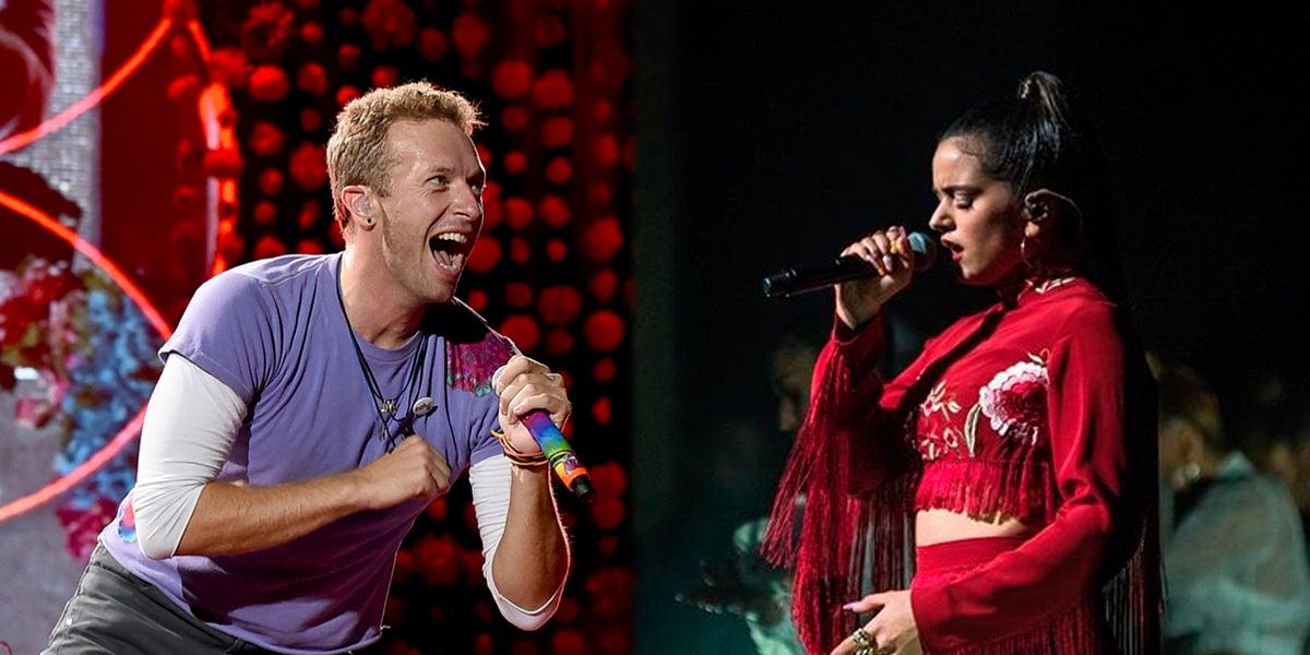 Chris Martin de Coldplay y Rosalía