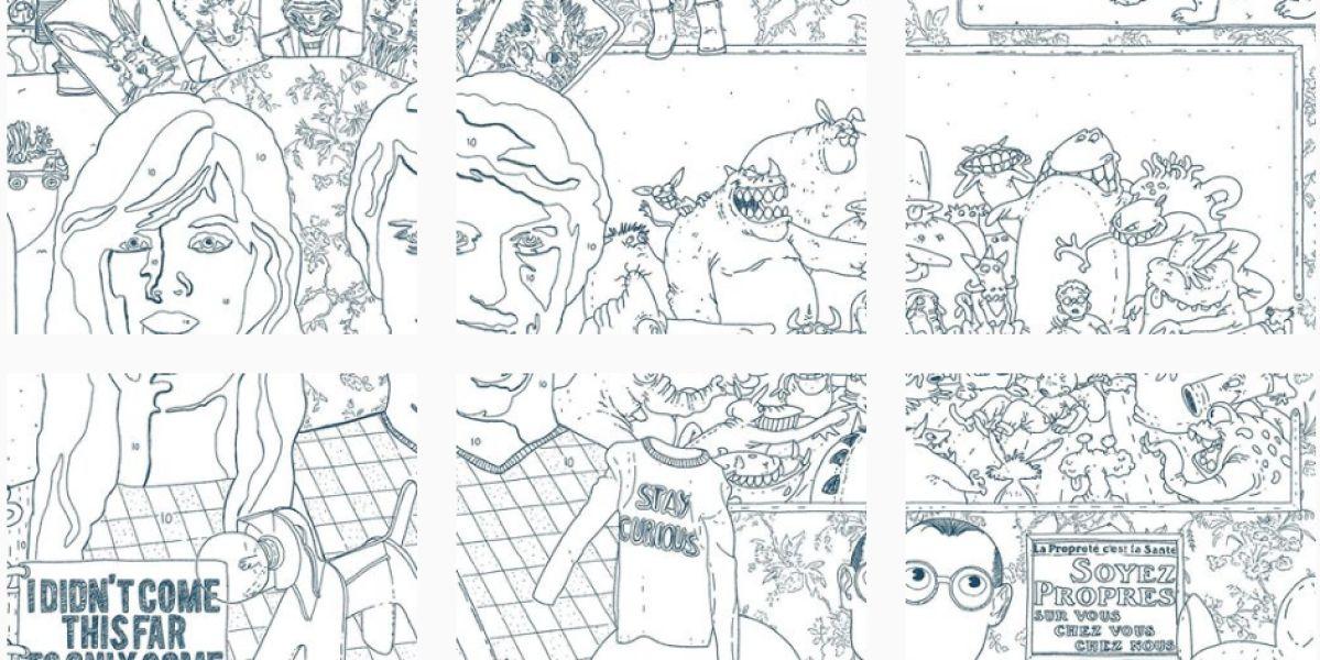 El 'dibujo infinito' de Elly Oldman