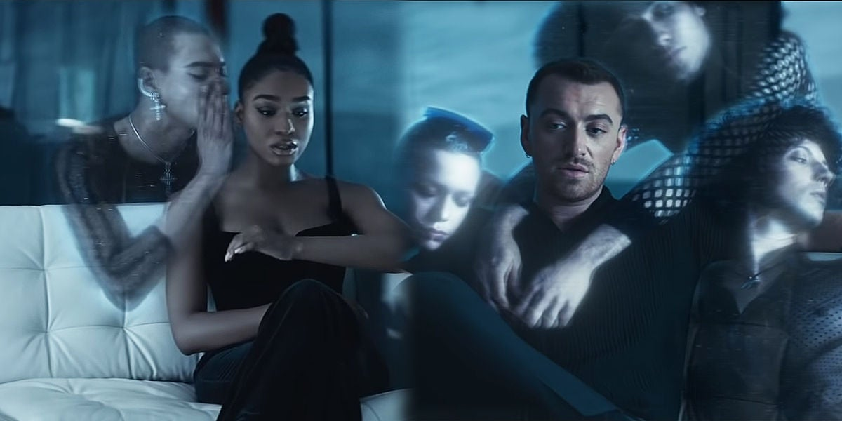 Normani y Sam Smith en el videoclip de 'Dancing With A Stranger'