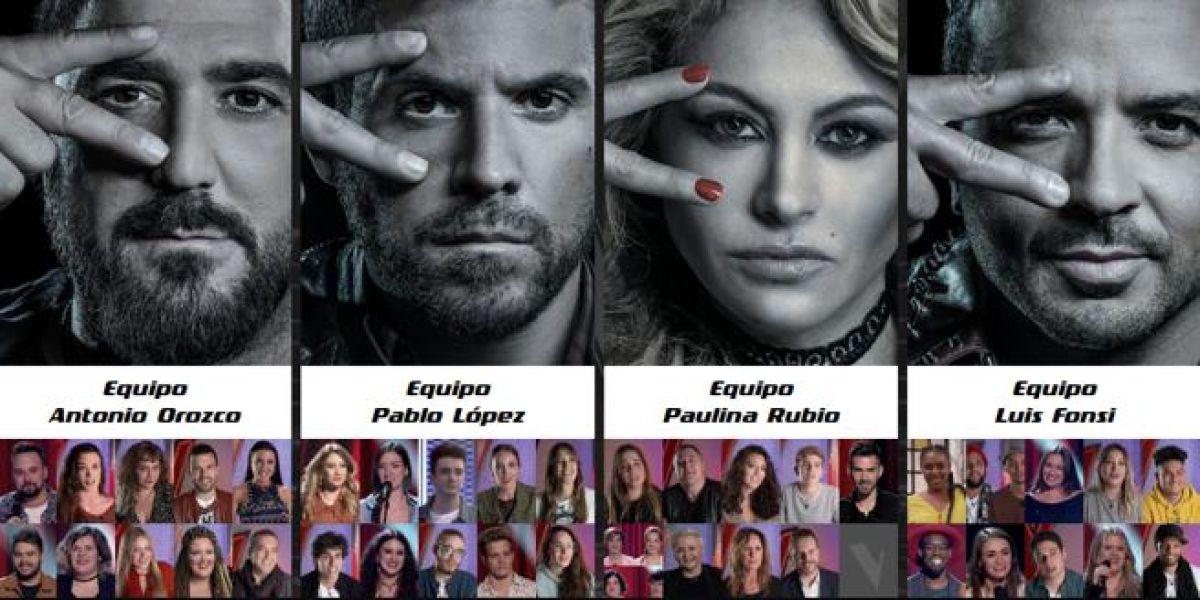 Los equipos de La Voz - Octava noche de Audiciones a ciegas