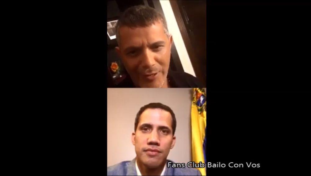 Alejandro Sanz entrevista a Juan Guaidó