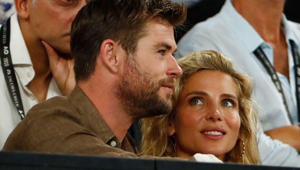 Chris Hemsworth y Elsa Pataky en el Open de Australia