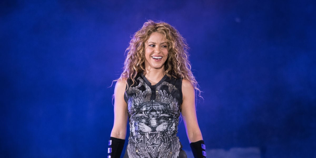 Shakira durante un concierto en el Madison Square Garden de Nueva York