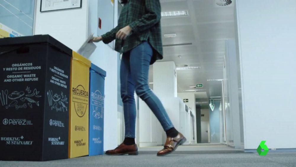 Contenedores para reciclar en el trabajo