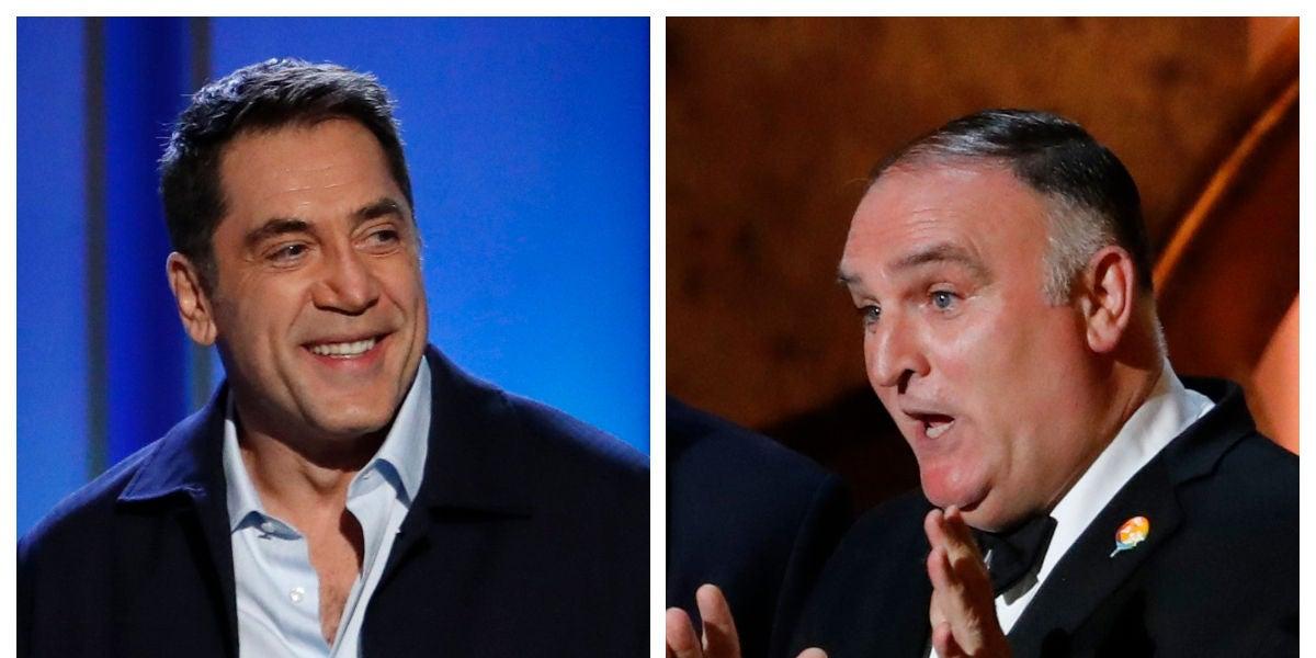 Javier Bardem y José Andrés