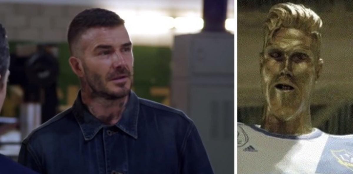 """Beckham y su """"estatua honorífica"""""""