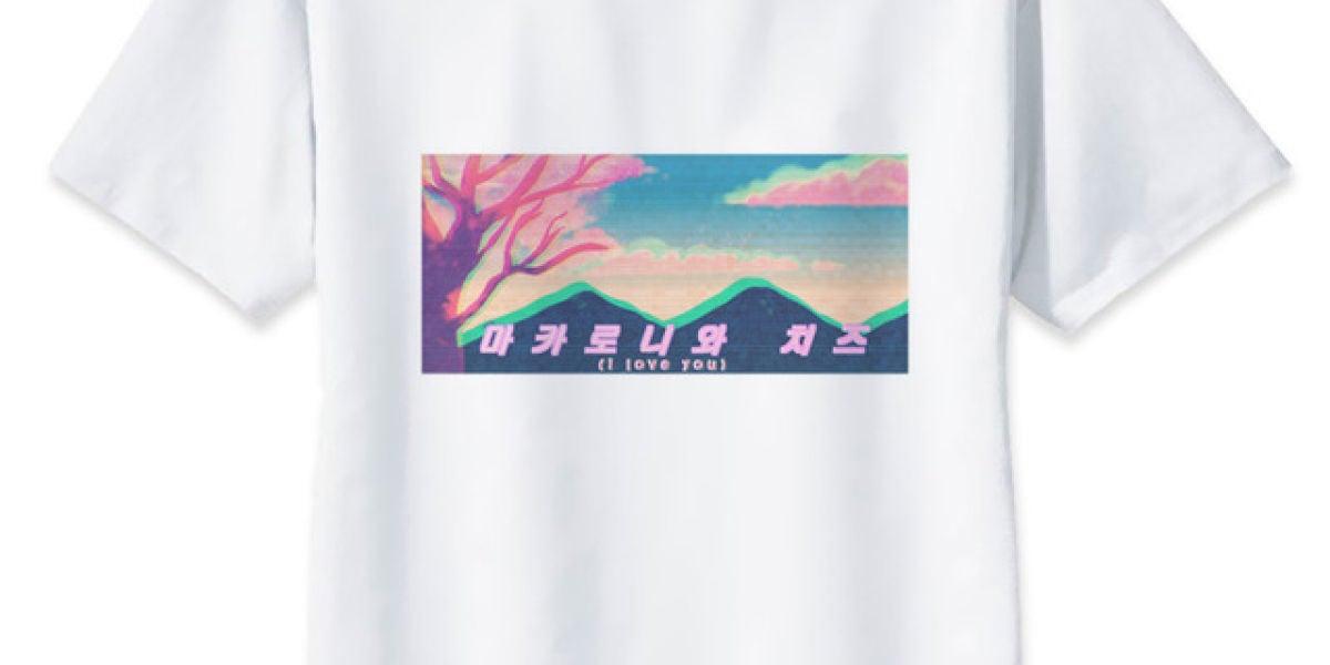 Camiseta de AliExpress con mensaje en coreano