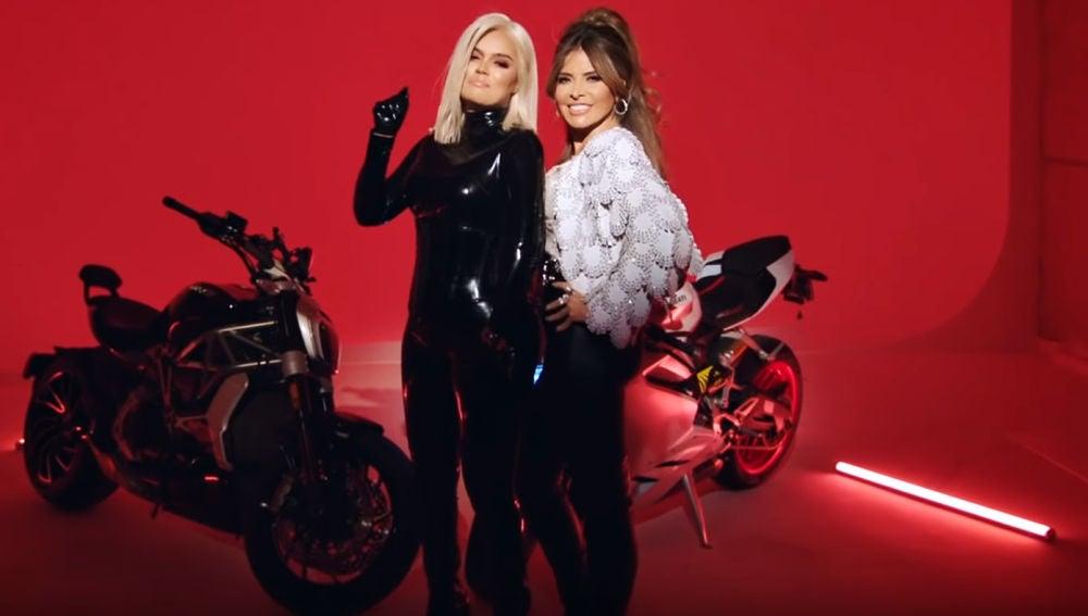 Karol G y Gloria Trevi en el videoclip de 'Hijoepu*#'
