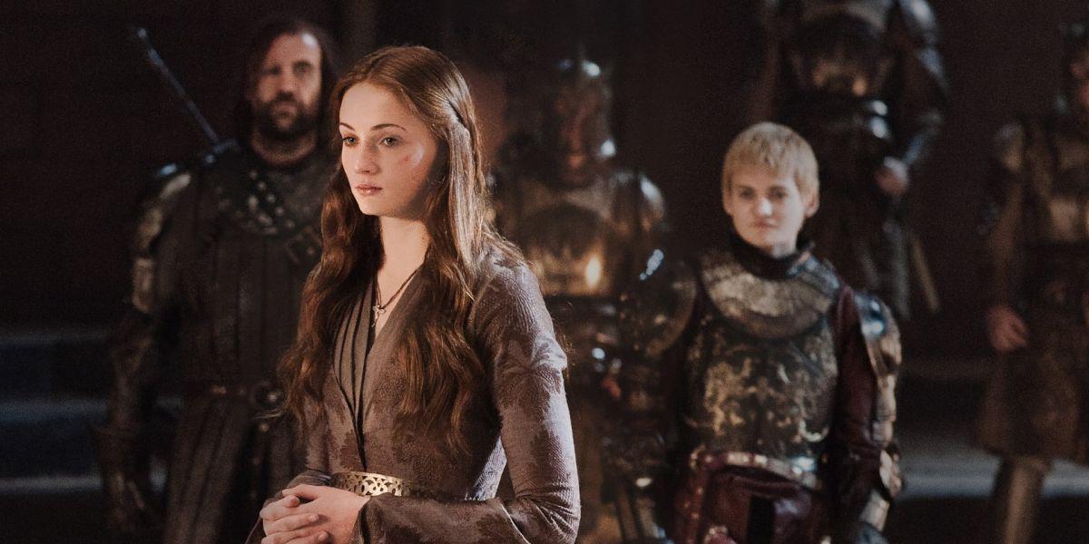 Sophie Turner y Jack Gleeson Sansa Stark y Joffrey Baratheon en 'Juego de Tronos'
