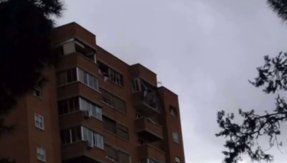 Explosión en un edificio de Vallecas