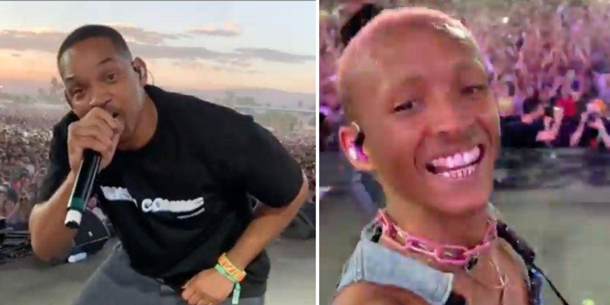 Will Smith 'se cuela' en la actuación de su hijo Jaden en Coachella