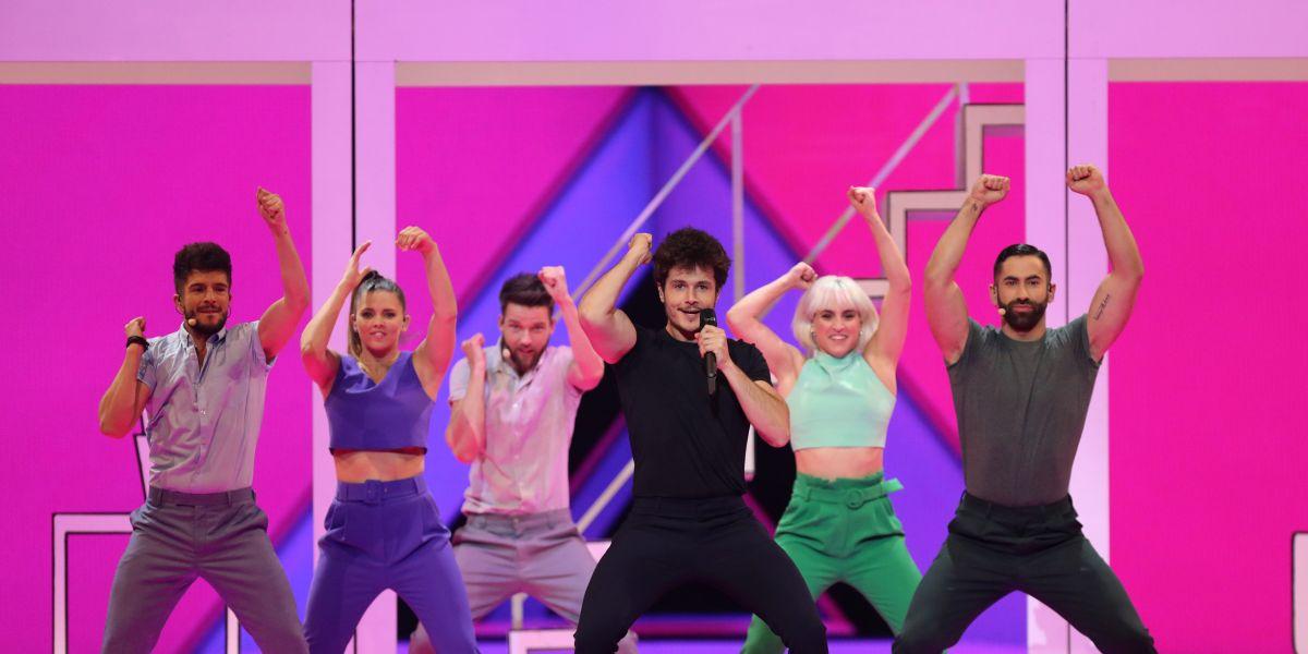 Miki se presenta durante los ensayos de vestimenta de la semifinal de Eurovisión
