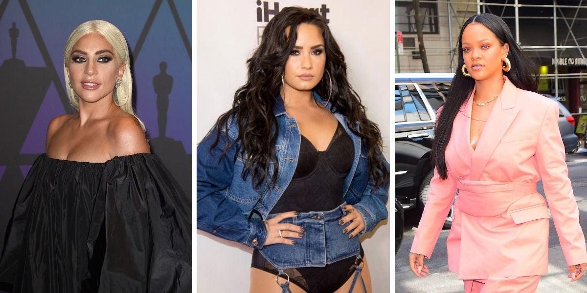 Lady Gaga, Demi Lovato, Rihanna
