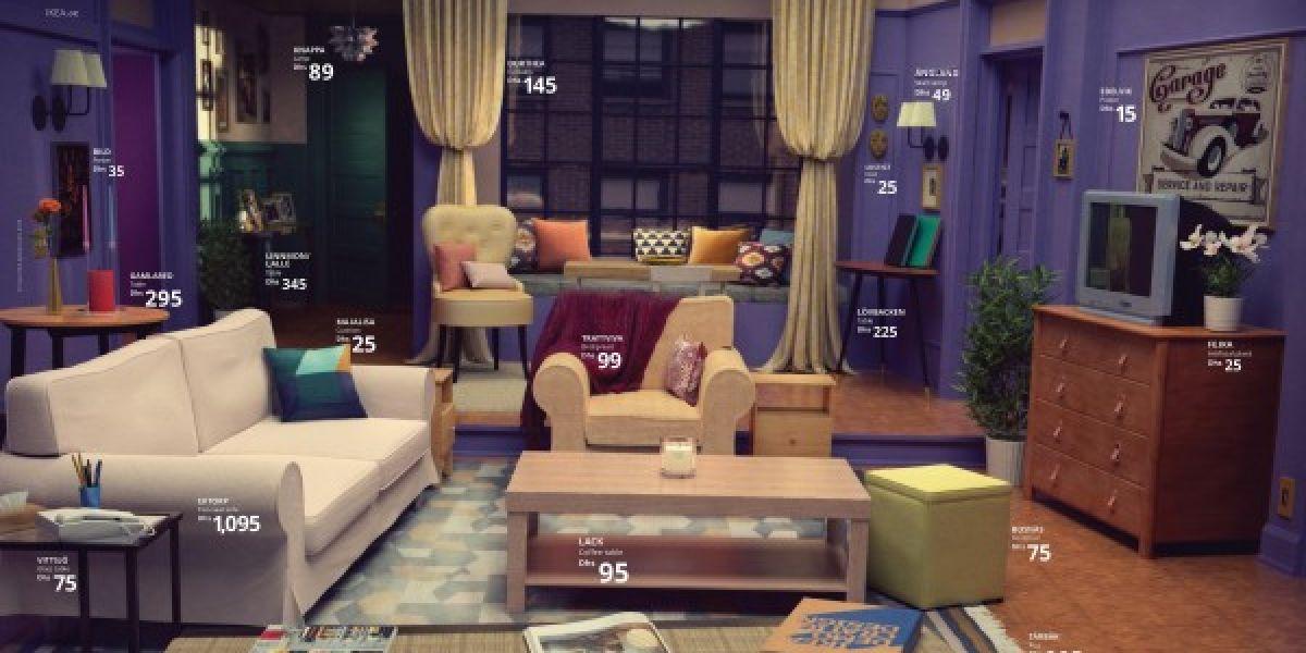 Ikea recrea el salón de 'Friends'