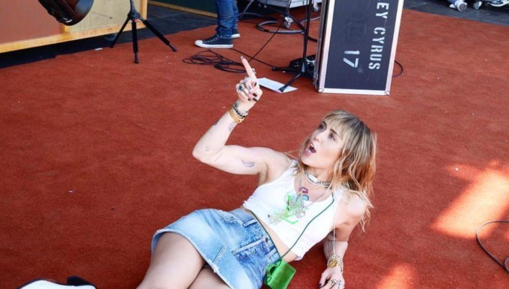Imagen de Miley Cyrus previa a una actuación