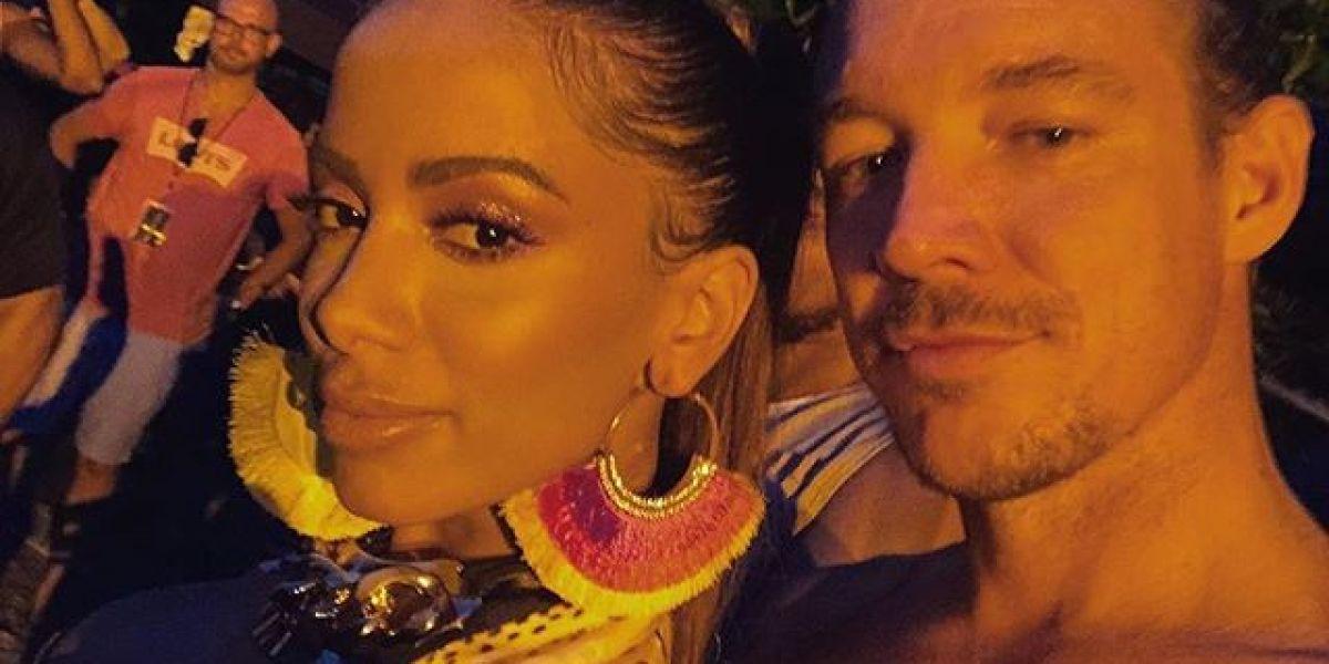 Anitta y Diplo en el rodaje del vídeo 'Make It Hot'
