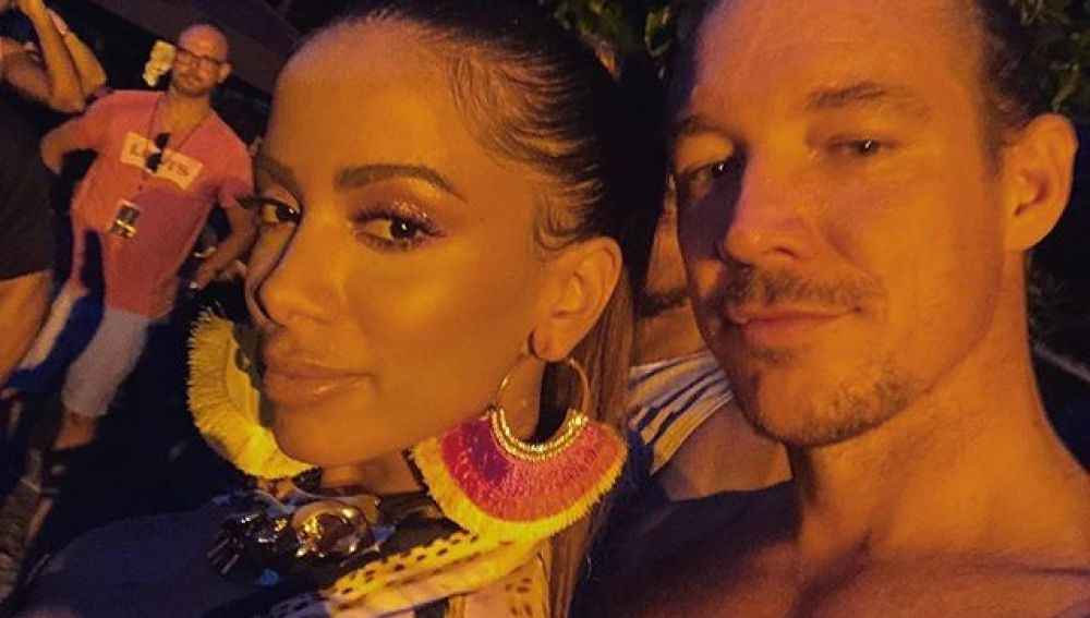 Anitta y Diplo en el rodaje del vídeo 'Make It Hot'