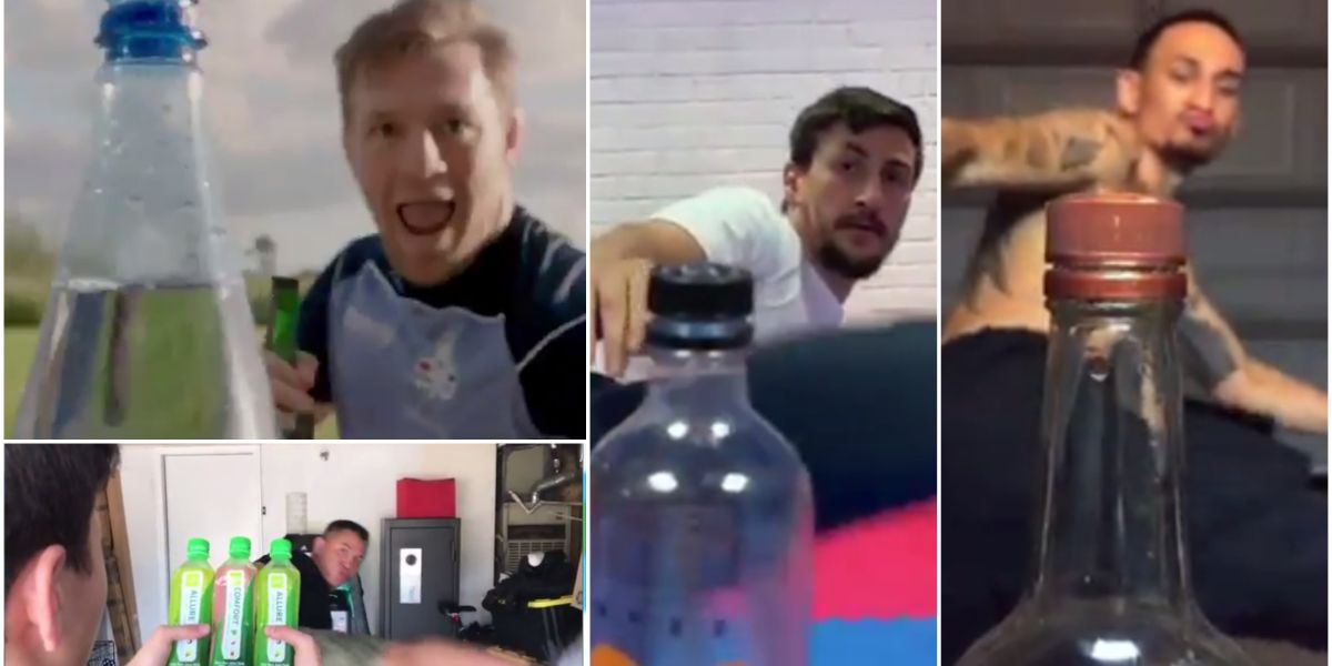 Los últimos deportistas que se han apuntado al #BottleCapChallenge