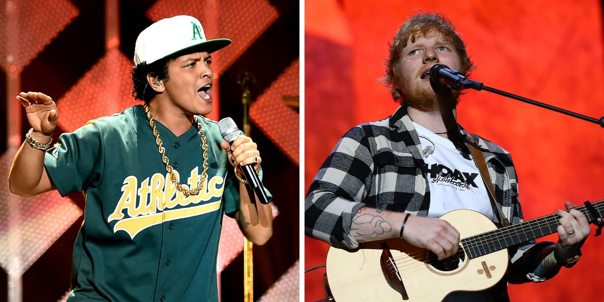 Bruno Mars y Ed Sheeran