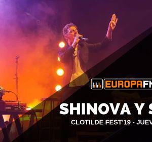 Shinova durante su concierto en el Clotilde Fest con Europa FM