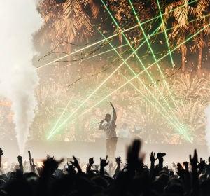 Bad Bunny durante su concierto en Sónar
