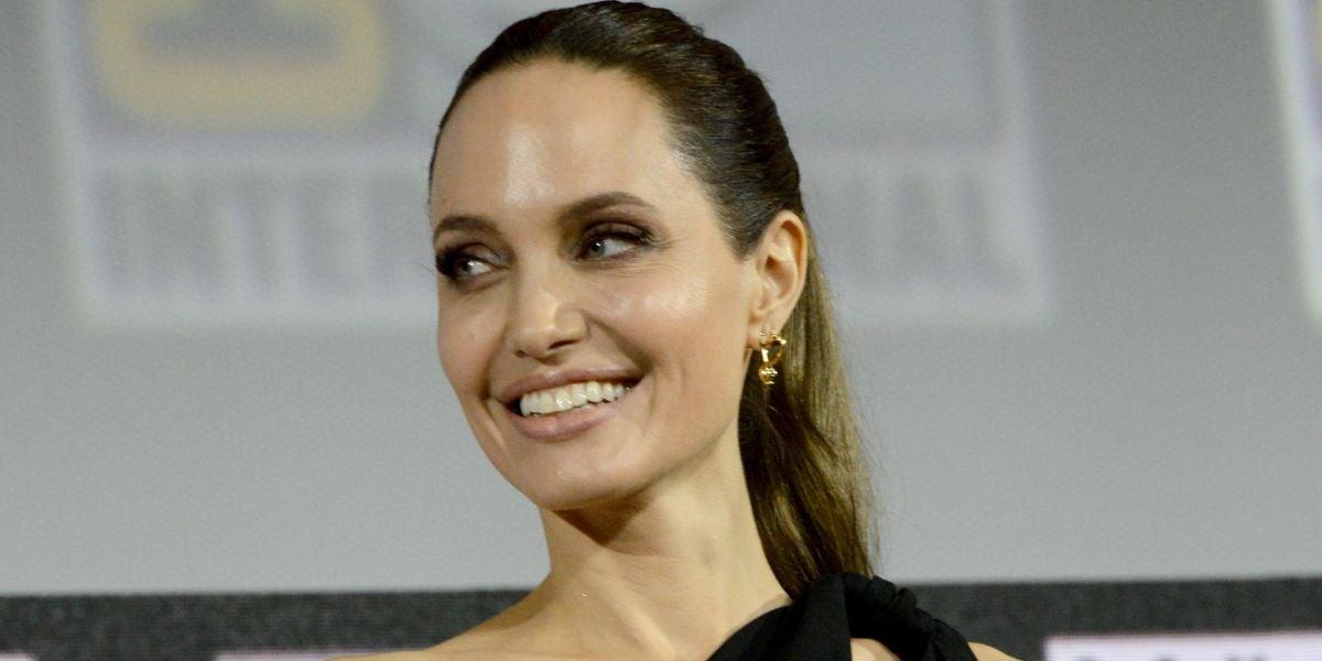 Angelina Jolie en la Comic Con 2019 presentando 'Los Eternos'