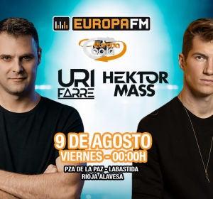 Uri Farré y Hektor Mass en la Fiesta Europa Baila en Labastida