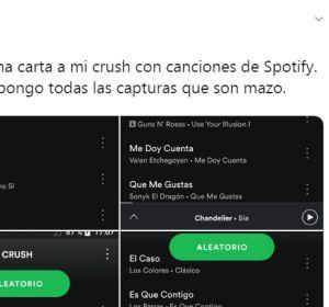 """La playlist de Spotify para """"su crush"""""""
