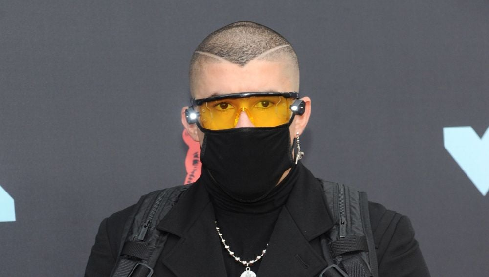 Bad Bunny en los MTV Video Music Awards.
