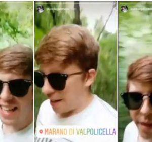 Gabriele Puccia grabando el vídeo que subió a Instagram