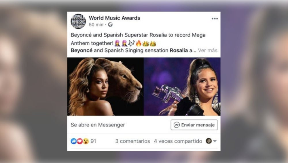 """¿Están preparando juntas Rosalía y Beyoncé el """"gran himno"""" de 2020?"""