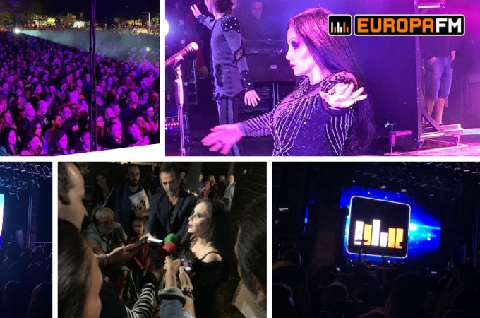 Concierto de Fangoria en Palencia, con Europa FM