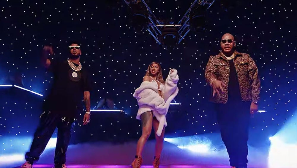 Anuel AA, Cardi B y Fat Joe en el vídeo de 'Yes'